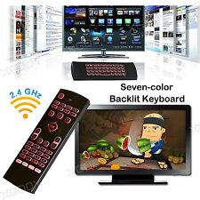 XGODY NEW Seven-color Backlit Air Mouse MX3 2.4G Wifi Wireless Remote Keyboard