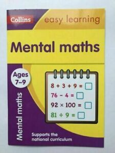 Collins Easy Learning Mental Maths Workbook Kids Age 7-9 years New KS2