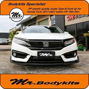 Quality Made Mr Type-R Front Lip For Honda Civic Sedan 2016-2021 FC 10th gen
