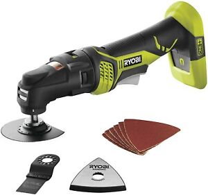 New Ryobi P340 One+ 18V Lith Ion JobPlus Cordless Multi Tool with 3 Attachments