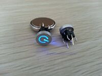 1pc Blue Led Dia 10mm Cap POWER 12V Momentary Tact Push Button Switch