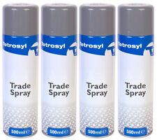 4x Wheel Silver Aerosol 500ml Spray Paint Body Wheel Alloy Steel Plastic Wood