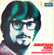 "7"" promo JONATHAN KING let it all hang out 45 SINGLE SPANISH 1970 colloquial sex"