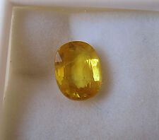 NATURAL OVAL CEYLON YELLOW SAPPHIRE 4.5 CARATS W/FREE APPRAISAL