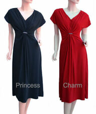 Polyester Dresses for Women with Cap Sleeve Midi
