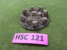 Warhammer 40k & Fantasy large dread sized Chaos Greater Daemon base w/ Nurglings