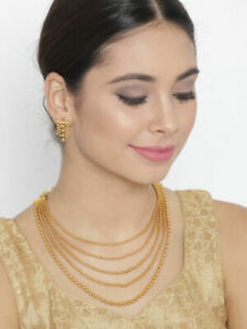 Indian Bollywood Gold Plated Pearl Necklace  Earring Wedding Women Party Jewelry