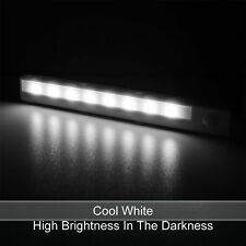 8 LEDs Under Cabinet PIR Motion Sensor Stick-on Night Lamp Battery Powered UK