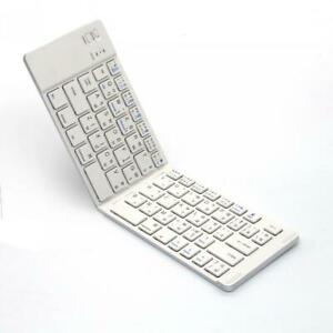 WIRELESS BLUETOOTH KEYBOARD FOLDING RECHARGEABLE PORTABLE KEYPAD for CELL PHONES