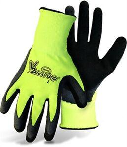 V2 Flexi-Grip High-Vis Polyester Knit Glove by Boss Mfg Company, 3PK