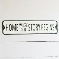 """Home Where Our Story Begins 20"""" Street Sign"""