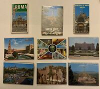 Souvenir Vintage Postcard Folders Lot of 9 - Italy & South America.