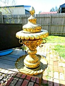 Very large brass decorative antique item
