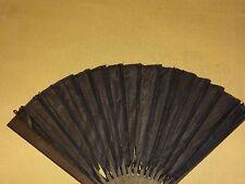 """Vintage 8 """" High Black Mourning Hand Fan"""