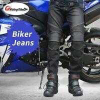 Motorrad Herren Biker Jeans Schutzausrüstung Motorrad-Rennrad Atmungsaktive Hose