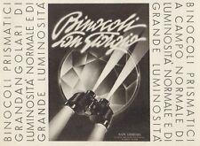 Z1246 Binocoli Prismatici SAN GIORGIO - Pubblicità d'epoca - 1936 Old advert