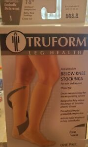 Truform leg health below know compression stockings 2XL  for men and women