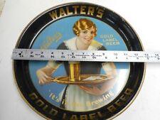 Walter's Gold Label Beer, Pueblo, Colo. 1930's Beer serving tray.