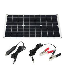 10W 12V Flexible Solar Panel Battery Dual Output Solar Power Energy System R1F6