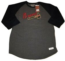 Atlanta Braves Shirt 3/4 Sleeve Raglan Tee Cooperstown T-Shirt Mitchell & Ness
