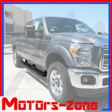 """For 99-15 Ford F250 Crew Cab BLACK OE Style 5"""" Oval Nerf Bars Pair Set Side Step"""