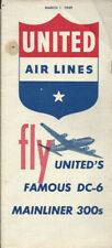 United Air Lines system timetable 3/1/49 [9082] Buy 4+ save 25%