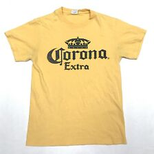 Vintage Men's Size Small Corona Extra Short Sleeve Crewneck Graphic Tee Shirt