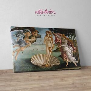 Sandro Botticelli, Nascita di Venere Stampa Fine Art Alta Qualità su tela Canvas