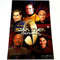 STAR TREK CAPTAINS Collage 10x15 COMPOSITE COLOR PHOTOGRAPH / POSTER - 40 Years