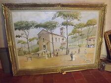 grand tableau sur toile Communion CARQUEIRANNE J.C PEROL 1968
