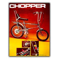 Chopper Raleigh Bicicleta Letrero de Metal Placa de Pared Vintage anuncio Art Print 1970s