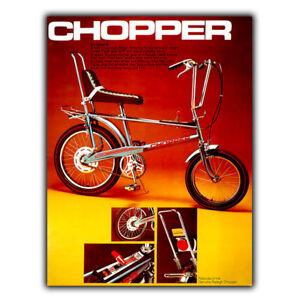 CHOPPER RALEIGH BIKE METAL SIGN WALL PLAQUE Vintage Advert art print 1970s