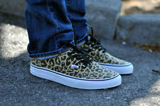 VANS Authentic Van Doren Leopard Black Mens Skate Shoes Size 11