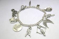 The Walking Dead Inspired Charm Bracelet Zombie Jewelry silver tone