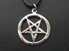 Pentagramm 925'er Silber Ketten Anhänger Drudenfuss    / KA 191