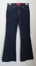 GLO Medium Wash Blue Jeans Slight Flare Leg Size 1 Hip Huggers Stretch Boot Cut