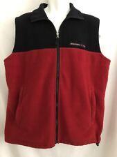 Vintage 90s Abercrombie & Fitch Blue Red Fleece Vest Mens Size L