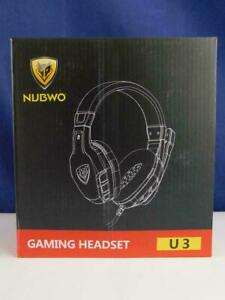 NUBWO U3 Stereo PC Gaming Headset Kopfhörer Ohrumschließend Kabelgebunden
