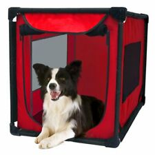 Dog's Portable Pet Kennel Soft Sided Large Trained Travel Carrier Indoor Outdoor