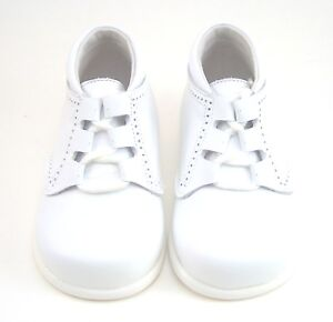 DE OSU -Baby Boys White Leather Dress 1st Walker Boots-European Shoes Size 3-4-6