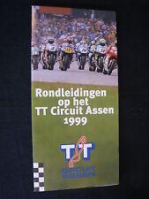 Flyer Rondleidingen op het TT Circuit Assen 1999 (TTC)