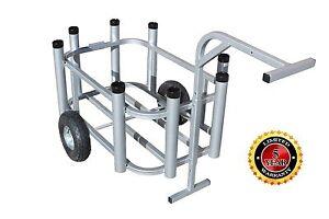 Plattinum, Beach Cart Fishing Cart Rod Rack Cooler Holder Standard Wheels