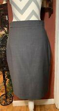 Ann Taylor 6 Grey Lighteright Cirgin  Wool Blend PencilSkirt