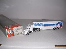 "CON-COR #1098  Kenworth 10 Wheel Cab w/48' Van Trailor ""Grabel"" Built-up H.O.Ga."
