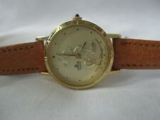 Lorus Walt Disney Mickey Mouse Watch Gold Tone Collectible Classy Style WORKING!