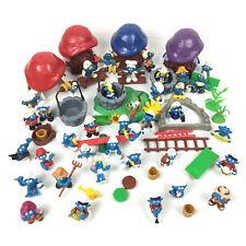 Lot 37 Figurines Les Schtroumpfs Smurf Peyo + 4 Maisons