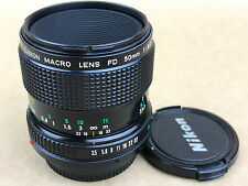 Canon FD 50mm f/3.5 Macro Manual Focus Film Lens - Nice Glass