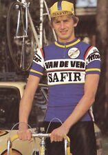 CYCLISME carte cycliste HERMAN FRISON  équipe VAN DE VEN SAFIR 1983