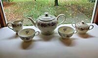 Vintage Thomas Ivory Tea Pot, 2 Tea Cups, Sugar Bowl and Creamer