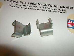 z Triumph BSA TLS Twin Leader Brake shoe Thrust pad x2 37-2026 W2026 €FA MY21 #3